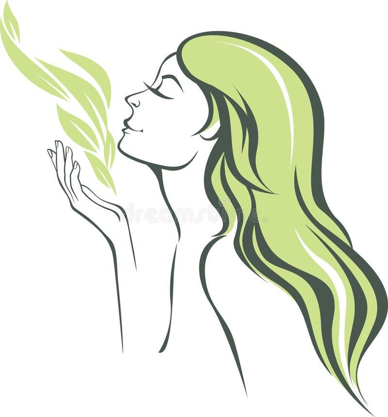 自然气味  向量例证