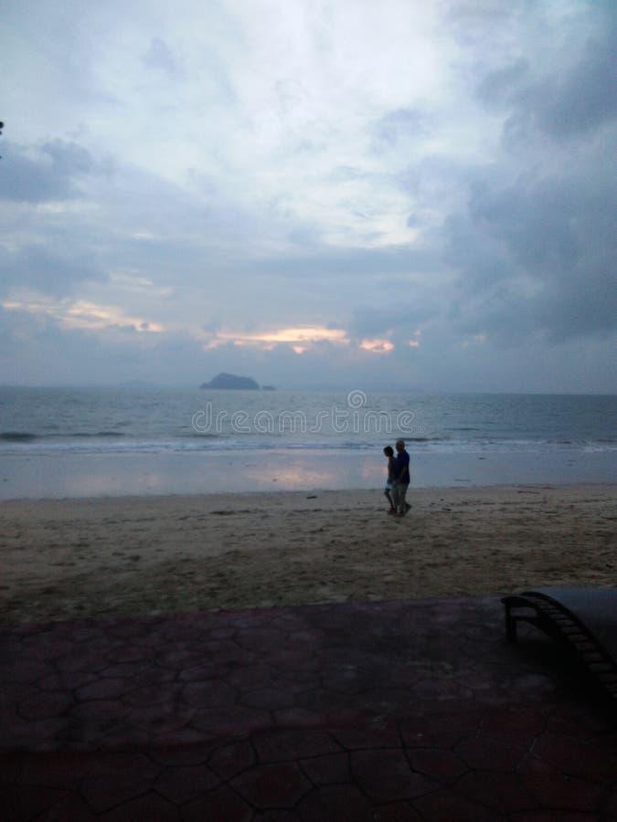 自然海海滩 免版税库存照片