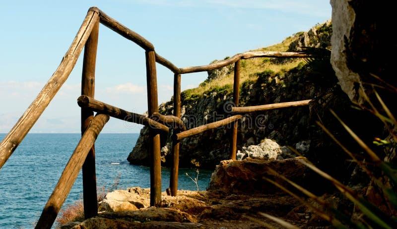自然海狂放的风景储备 免版税图库摄影