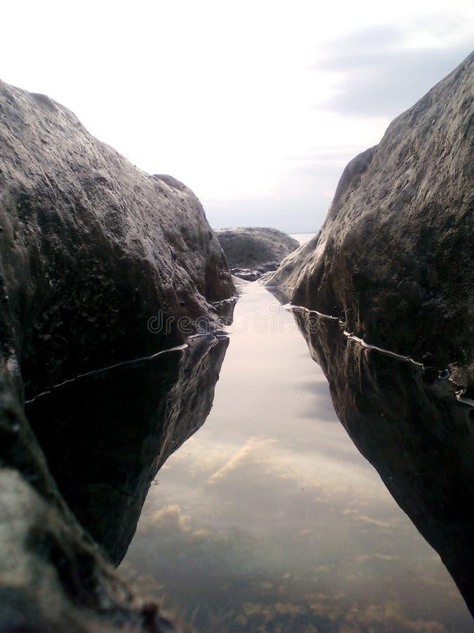 自然海 图库摄影