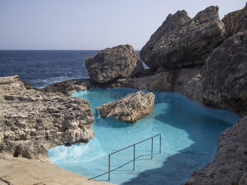 自然游泳池 免版税库存照片