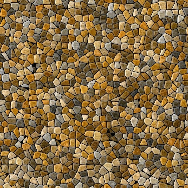 自然灰棕色上色了抽象大理石不规则的塑料石马赛克样式纹理无缝的背景 皇族释放例证