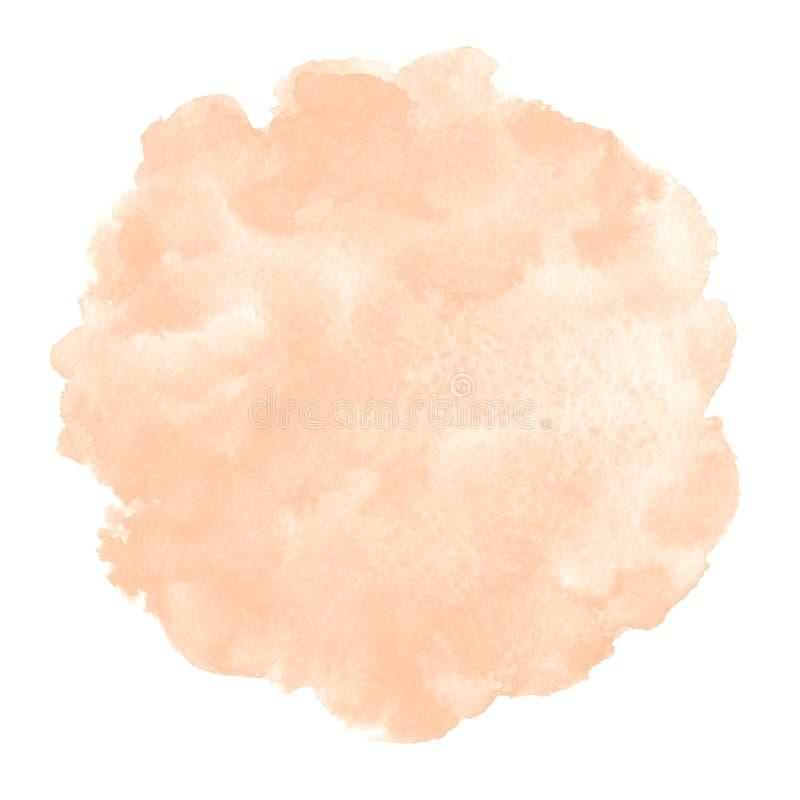 自然玫瑰色米黄水彩圆的背景,圈子 向量例证