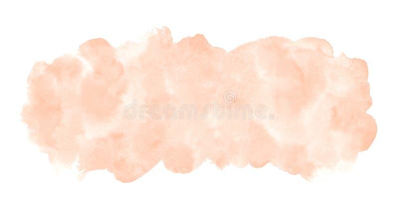 自然玫瑰色米黄水彩长方形横幅背景 免版税库存图片