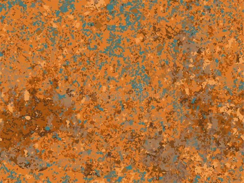 自然生锈的纹理,铁锈的模仿 库存例证