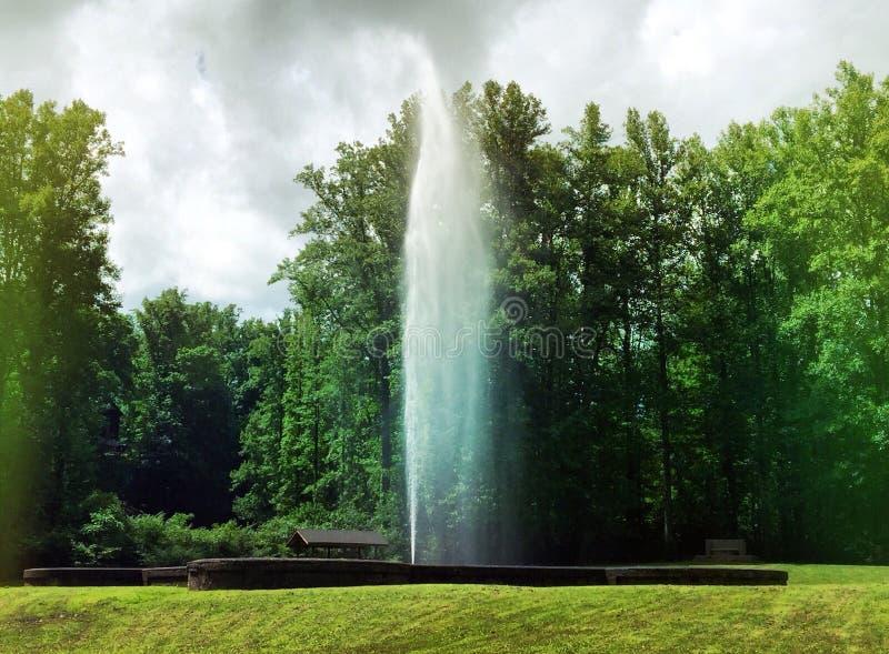 自然的喷泉 库存图片
