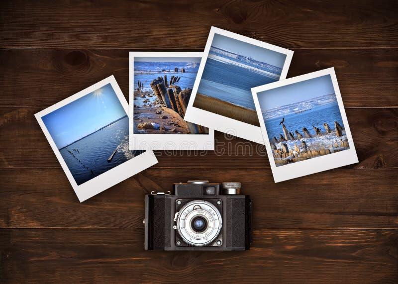 自然的四张照片 免版税库存照片