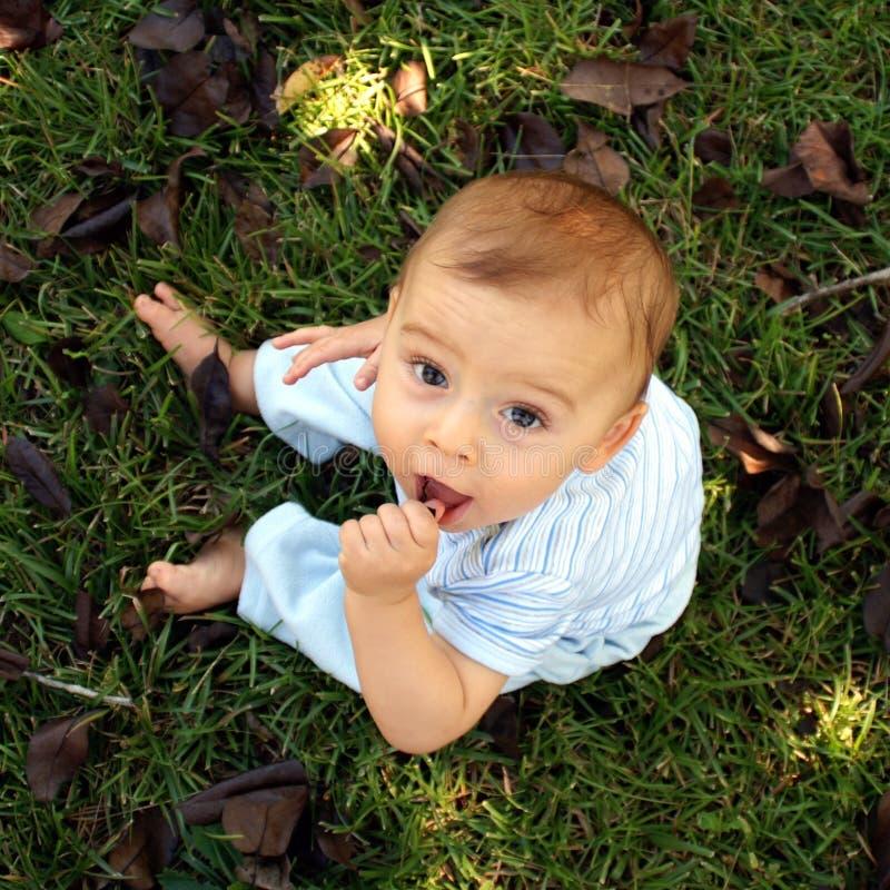 自然的婴孩 免版税库存照片