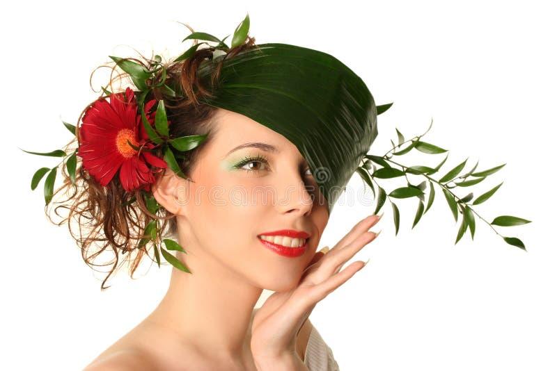 自然的帽子 免版税库存图片