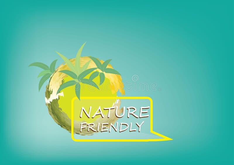 自然的有机概念或标志或背景树的Eco系统与根 皇族释放例证