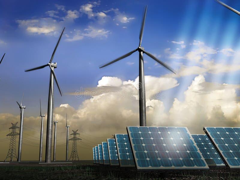 自然的能源 向量例证