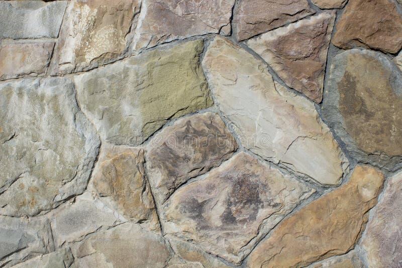 自然石墙 库存照片