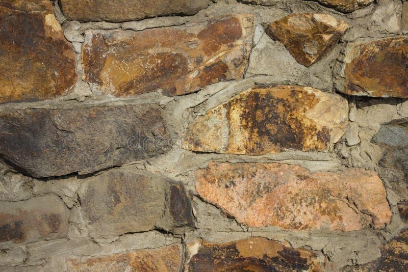 自然石头的手工建筑 库存图片