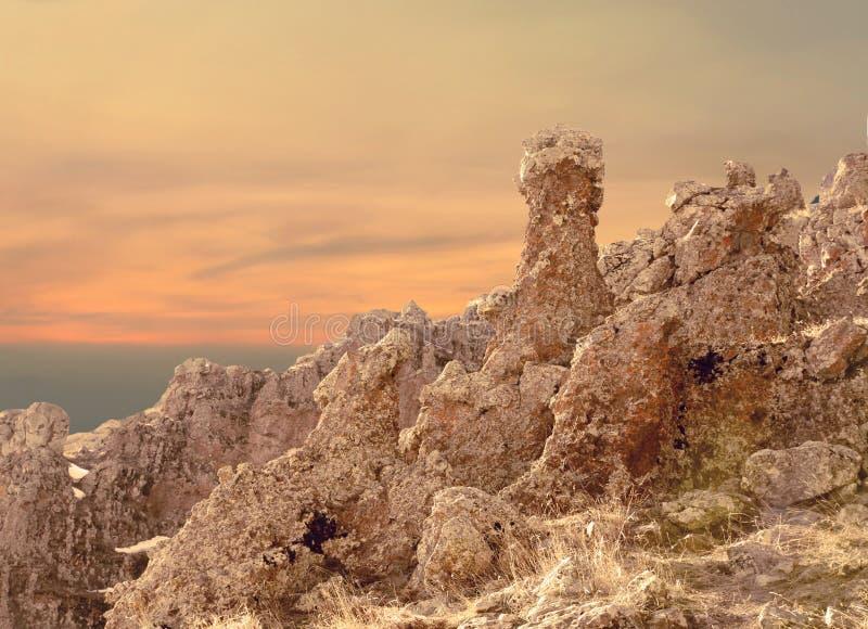 自然石面孔 免版税库存图片