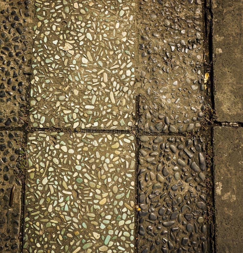 自然石头构造了在三宝垄拍的照片印度尼西亚 免版税库存图片