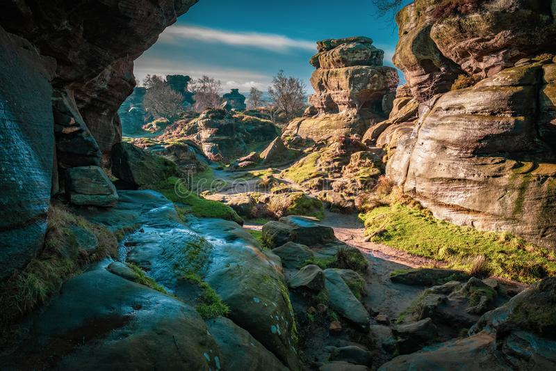自然砂岩岩层 免版税库存图片