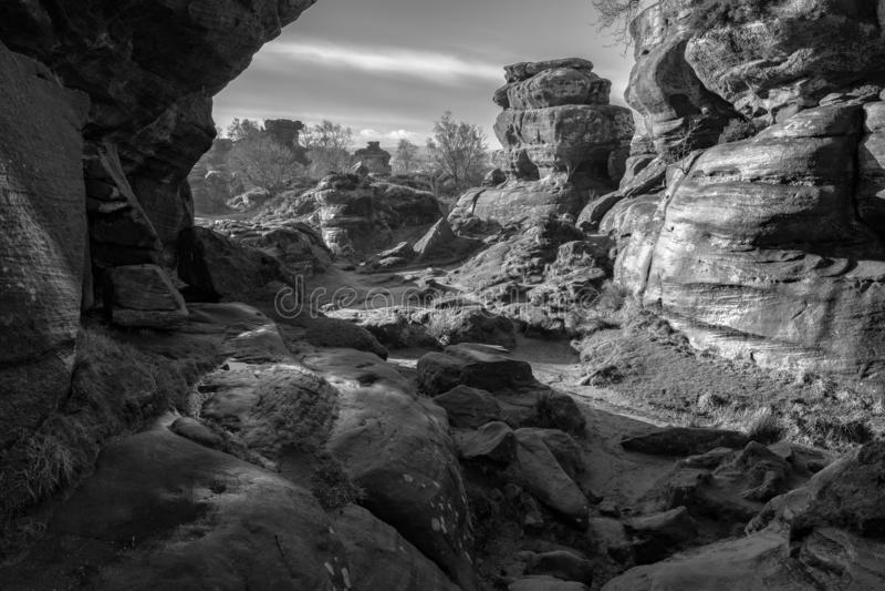 自然砂岩岩层 图库摄影