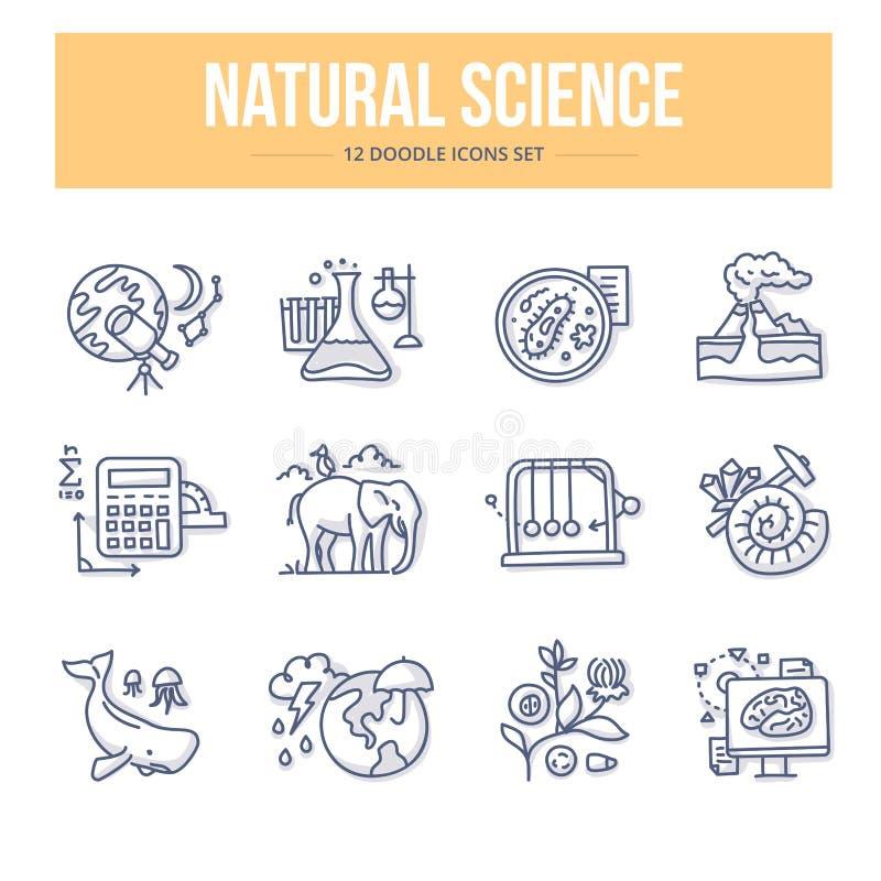 自然科学乱画象 库存例证