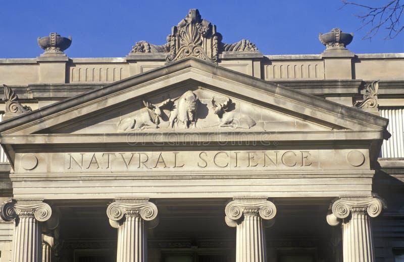 自然科学大厦,衣阿华市,衣阿华细节在爱荷华大学的 免版税库存照片