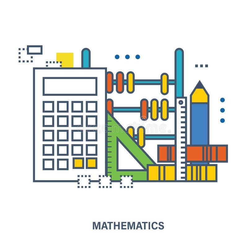 自然科学数学的概念 库存例证