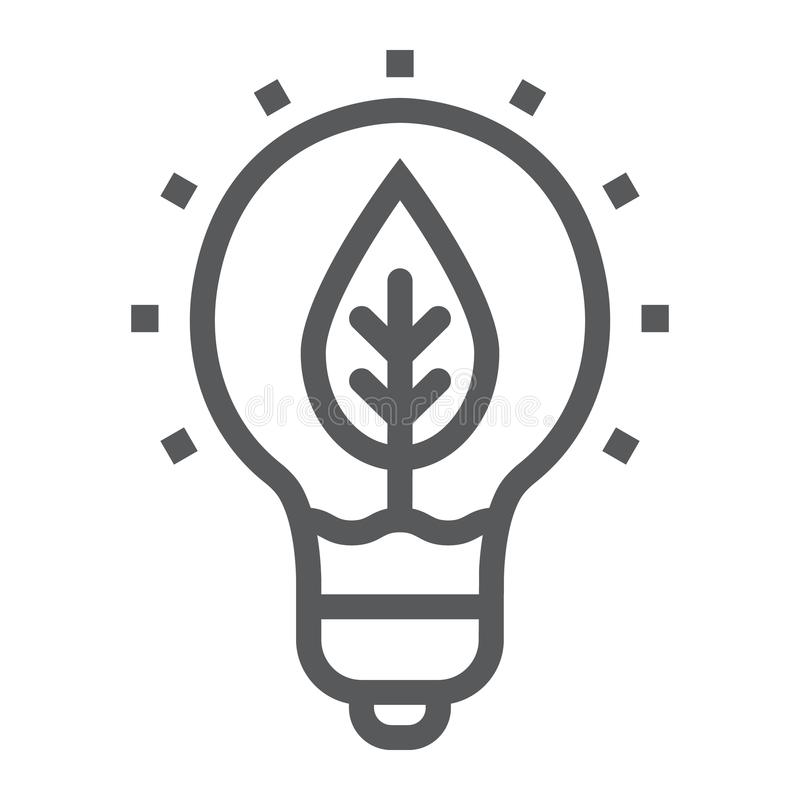 自然线象、生态和能量的力量 库存例证