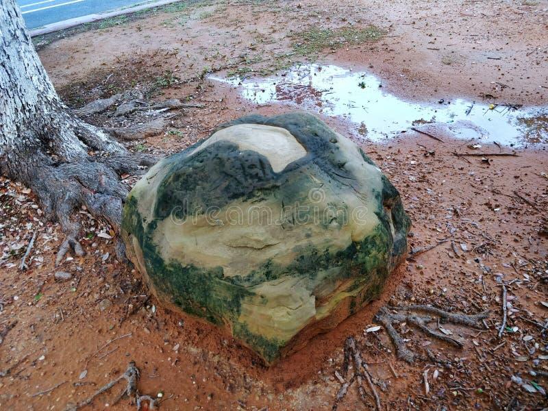 自然绿色岩石 免版税图库摄影