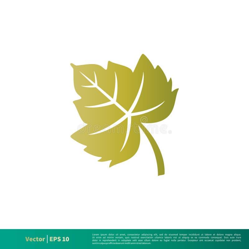 自然绿色枫叶象传染媒介商标模板例证设计 o 向量例证