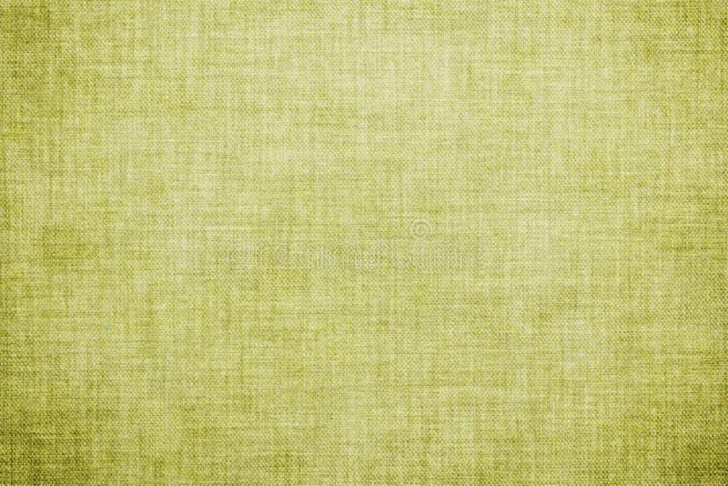 自然绿色色的亚麻制纹理或葡萄酒粗麻布帆布背景 图库摄影