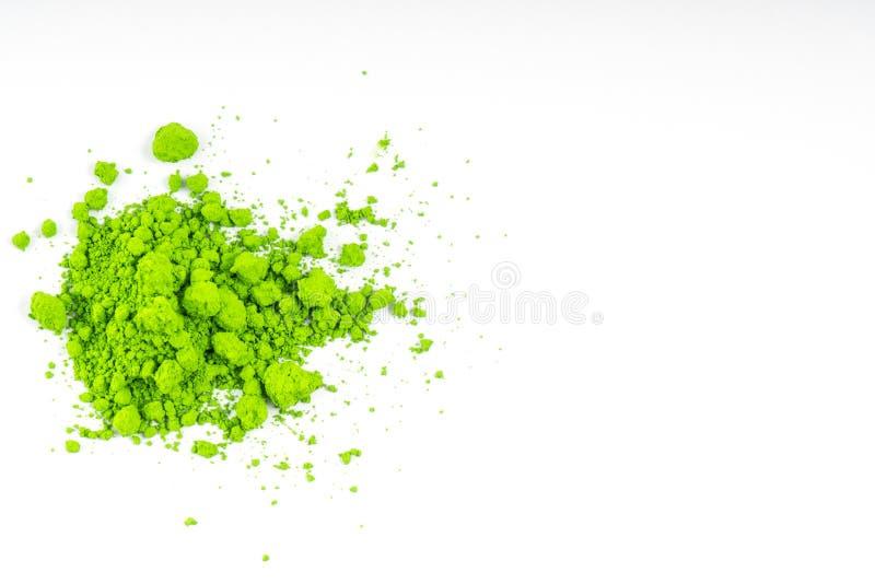 自然绿色色的颜料粉末 图库摄影