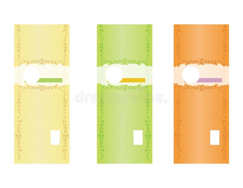 自然肥皂标签模板2 库存图片