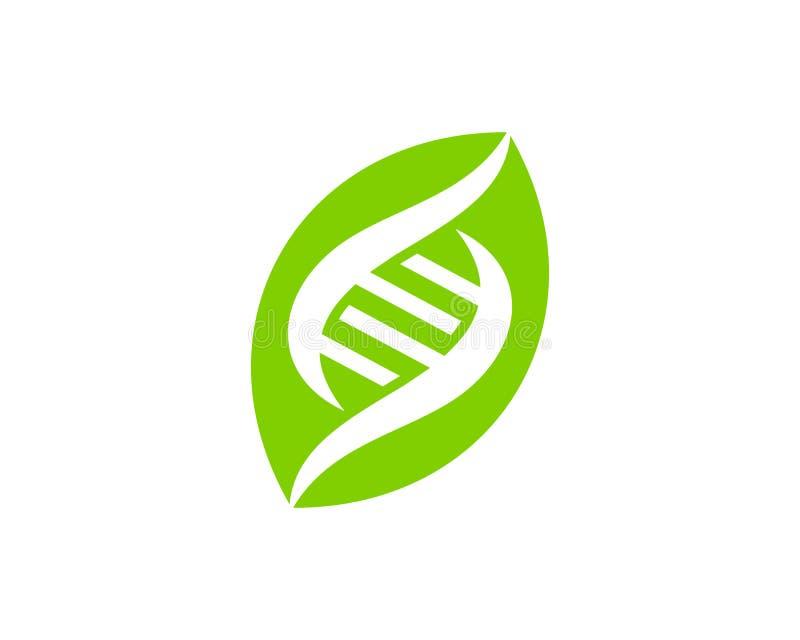 自然脱氧核糖核酸商标象设计 皇族释放例证