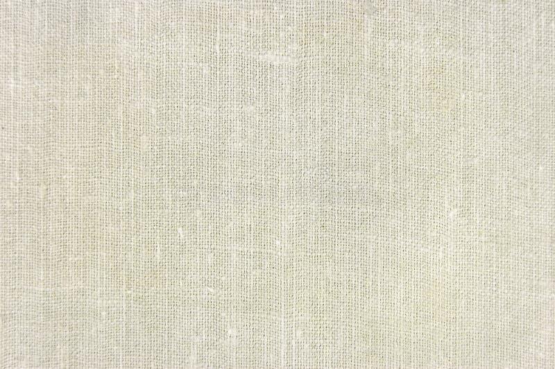 自然葡萄酒亚麻制粗麻布织品纹理,水平的织地不很细背景,棕褐色,灰棕色,淡黄色,灰色样式,大详细 库存照片