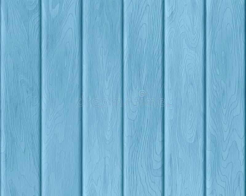 自然蓝色木纹理,被绘的板,现实木背景 向量例证