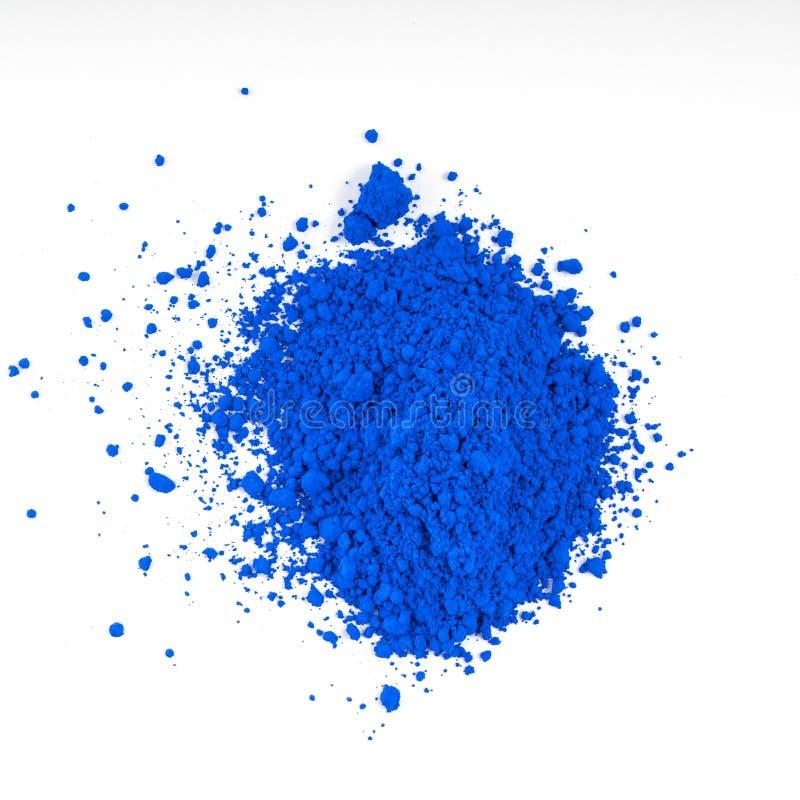 自然蓝色色的颜料粉末 库存照片