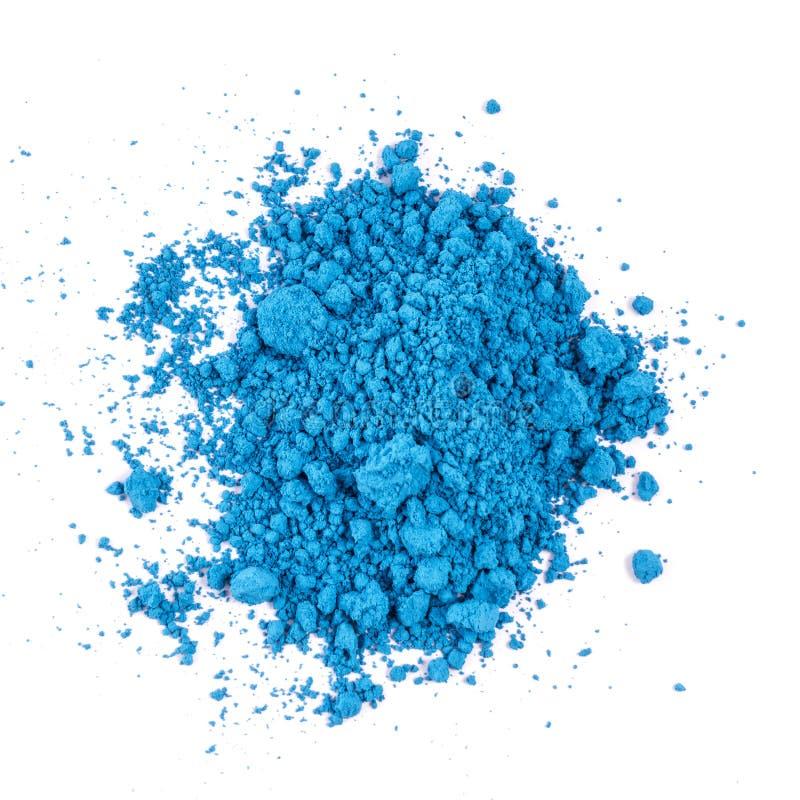 自然蓝色色的颜料粉末 免版税库存照片