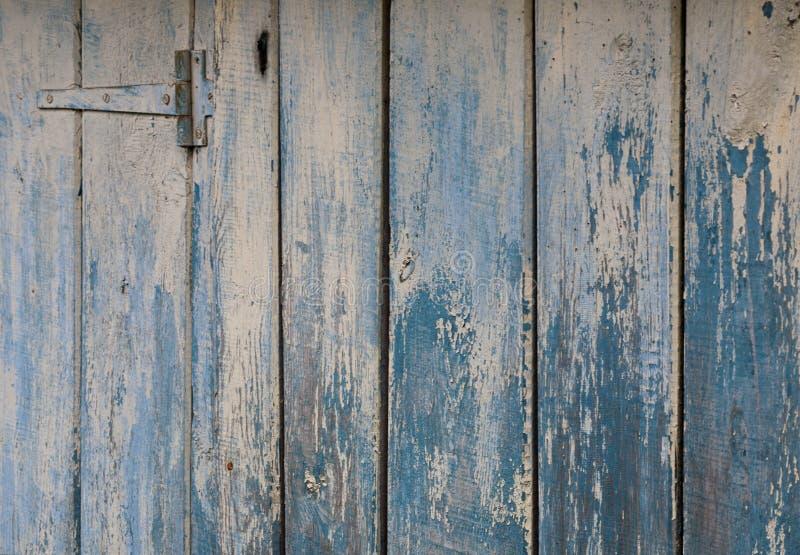 自然蓝色谷仓木头墙壁 库存照片
