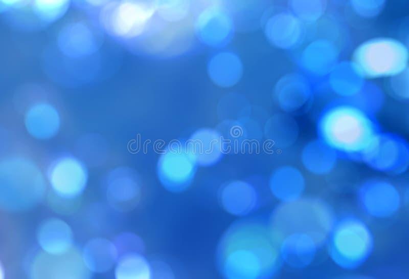自然蓝色迷离闪耀抽象背景 免版税库存图片