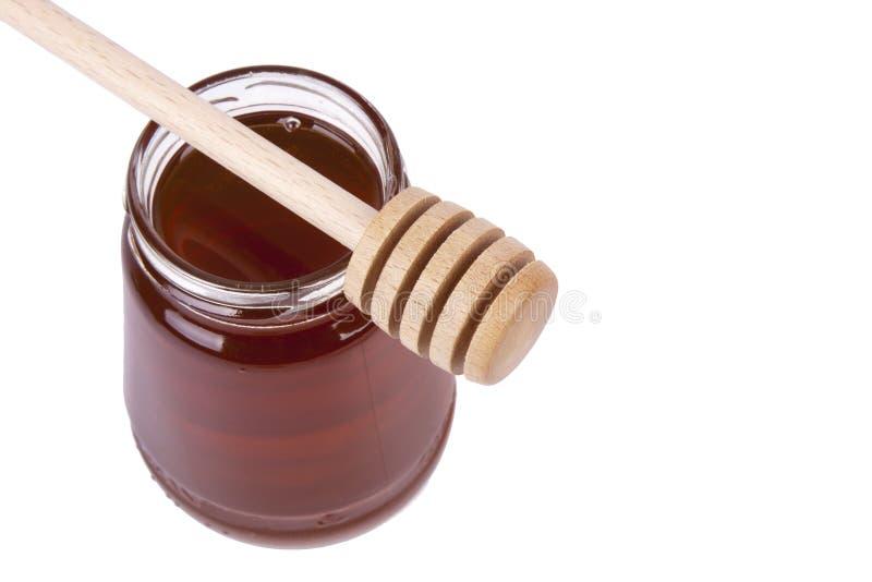 自然蜂蜜 免版税库存照片