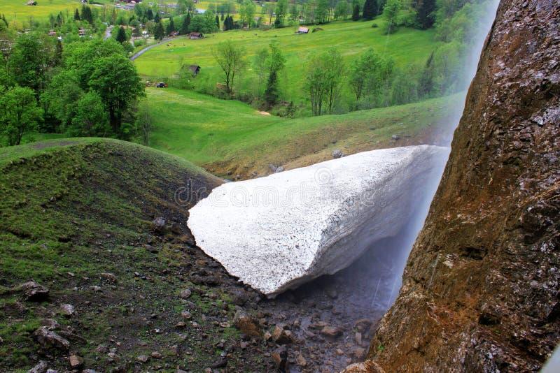 自然被形成的碳酸钙在瑞士 免版税库存图片