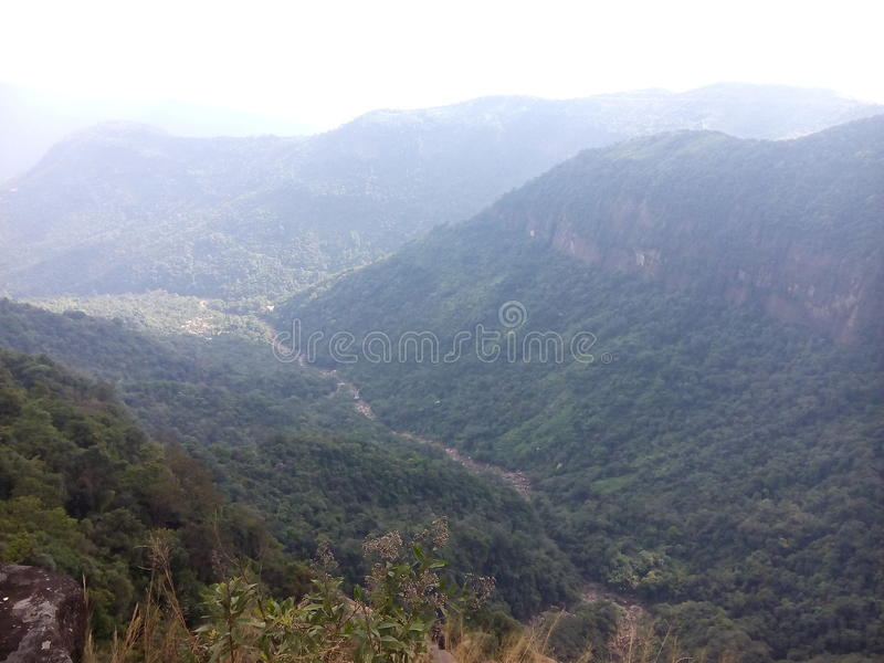 自然西隆maghalaya山秀丽  库存图片
