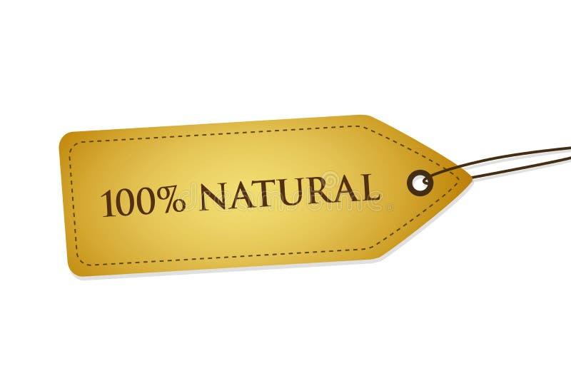 100%自然质量标签 皇族释放例证