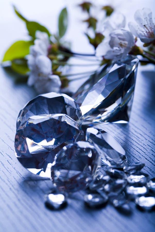 自然金刚石的珠宝 免版税库存图片