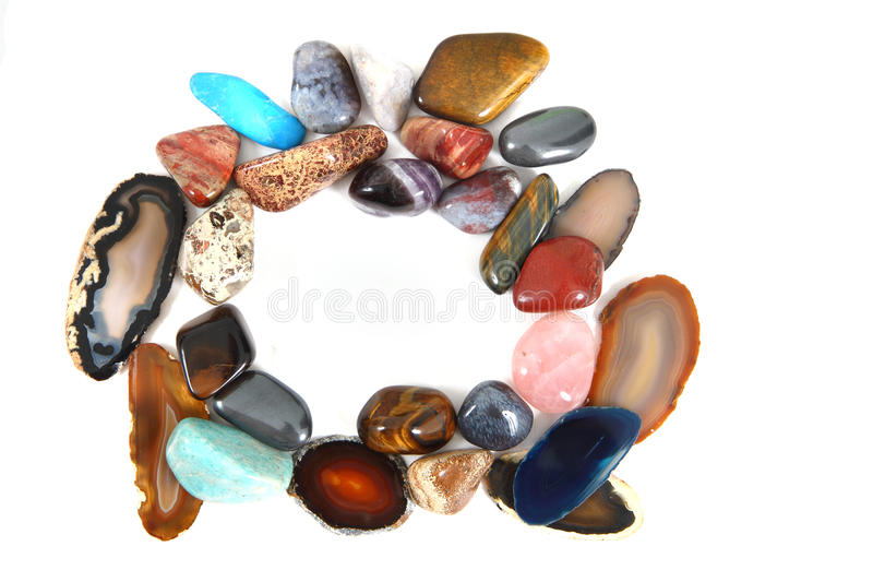 自然颜色宝石 库存图片