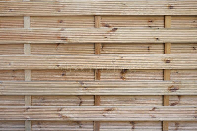 自然颜色木篱芭纹理,未磨光的木板条 免版税库存图片