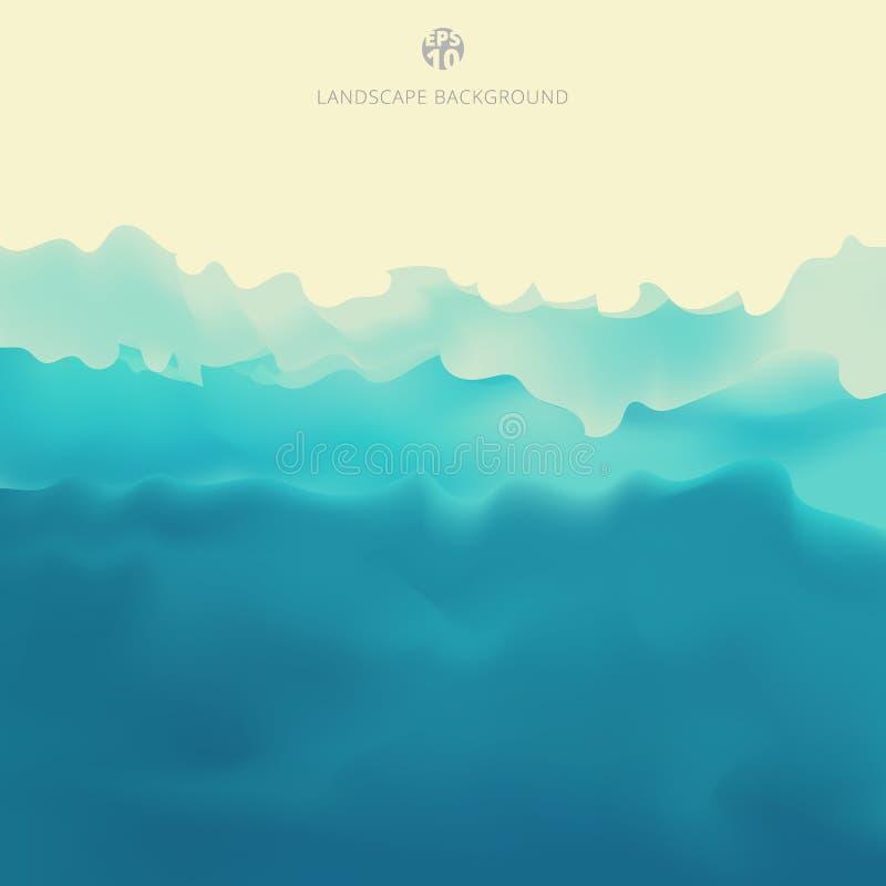 自然风景山景蓝色颜色背景 皇族释放例证