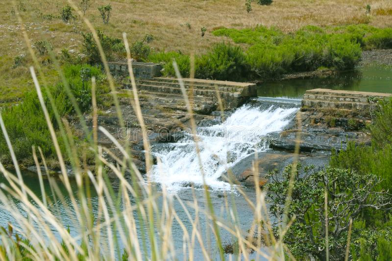 自然风景,湖有美好的背景 免版税库存照片