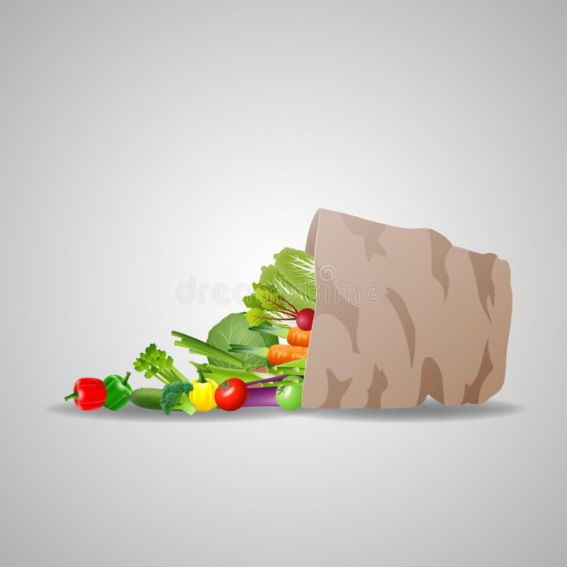 自然食物是非常好有机的 向量例证