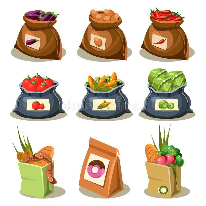 自然食物是非常好有机菜 向量例证
