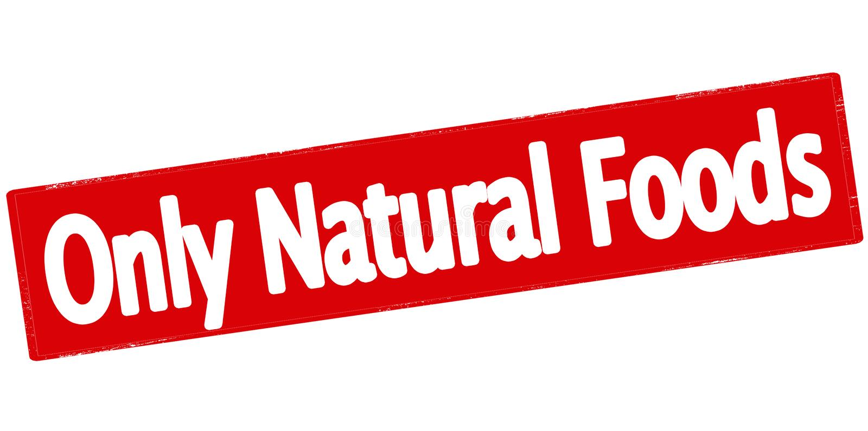 仅自然食物 皇族释放例证