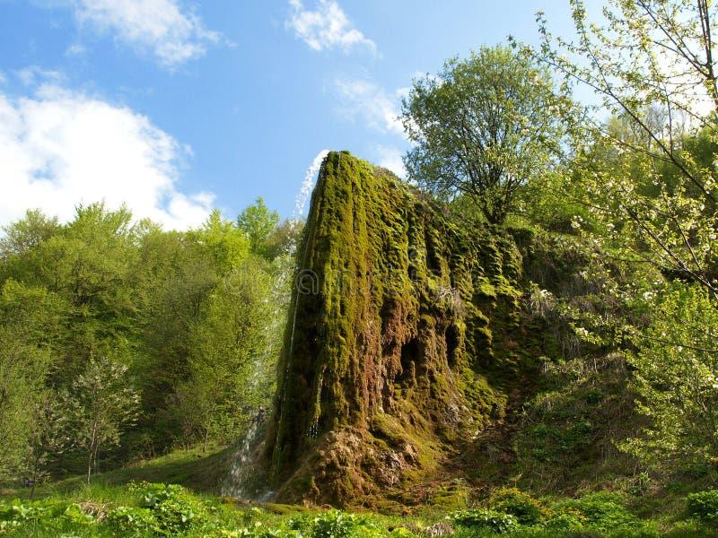 自然 名为Prskalo的美妙的瀑布 免版税库存照片